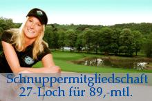 Golf Schnuppermitgliedschaft