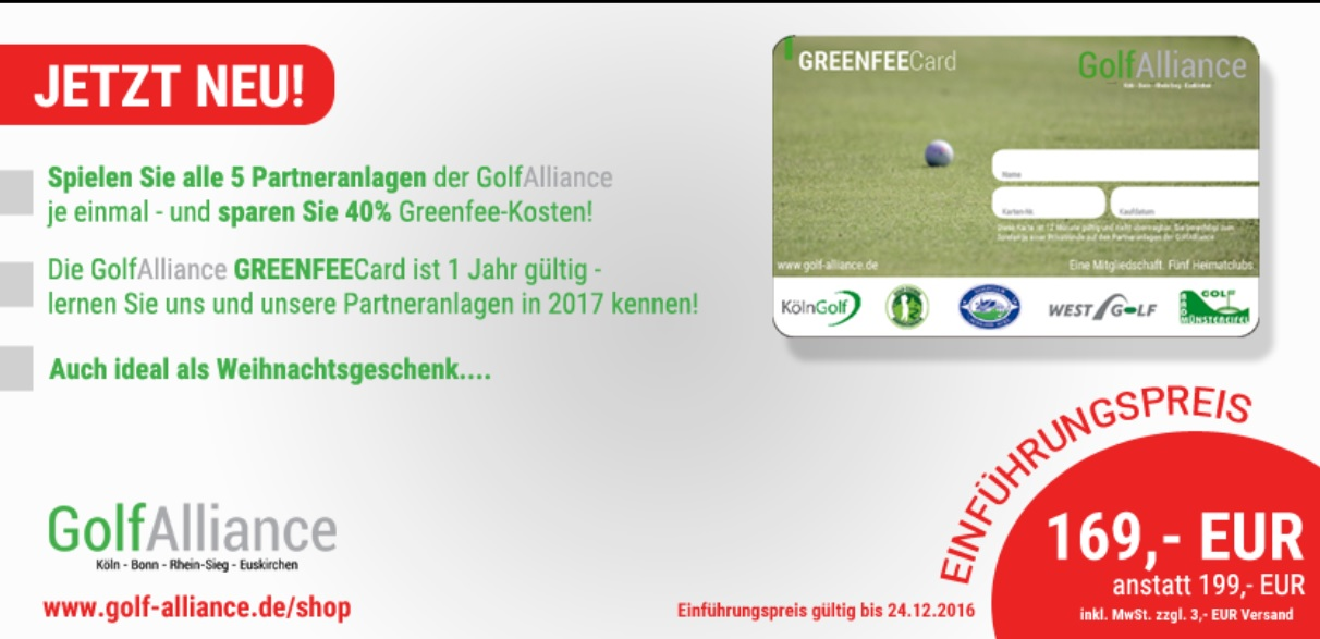 GolfAlliance GreenFeeCard